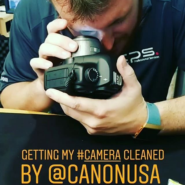 Getting my #camera cleaned by #canon at @bandccamera