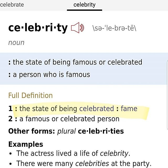You're the #CELEBRITY start acting like it! #BeTheCelebrity