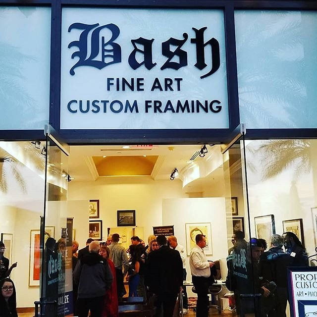 Did some networking at #bashfineart #gallery last night #vegas