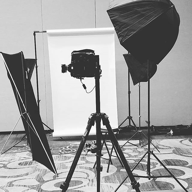 My setup today at #mandalaybay doing #corporate #headshot #photography